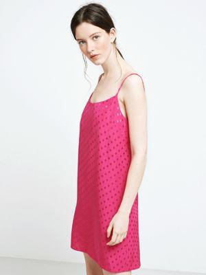 c074efafa69c Pink Spot Jacquard Slip Dress   (D)resses   Dresses, Pink dress ...