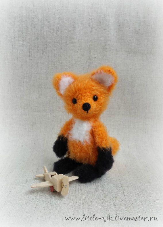 Купить лисенок Ник - рыжий, лисенок, лис, лиса, лисичка, оранжевый, лисята, самолет, самолетик