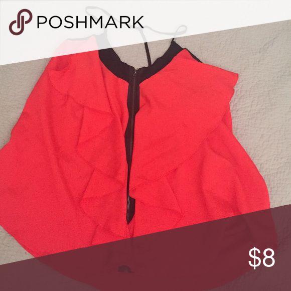 Blouse Burn orange beautiful blouse Forever 21 Tops Blouses
