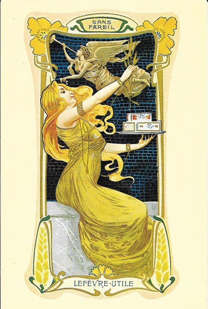 Art nouveau trade card