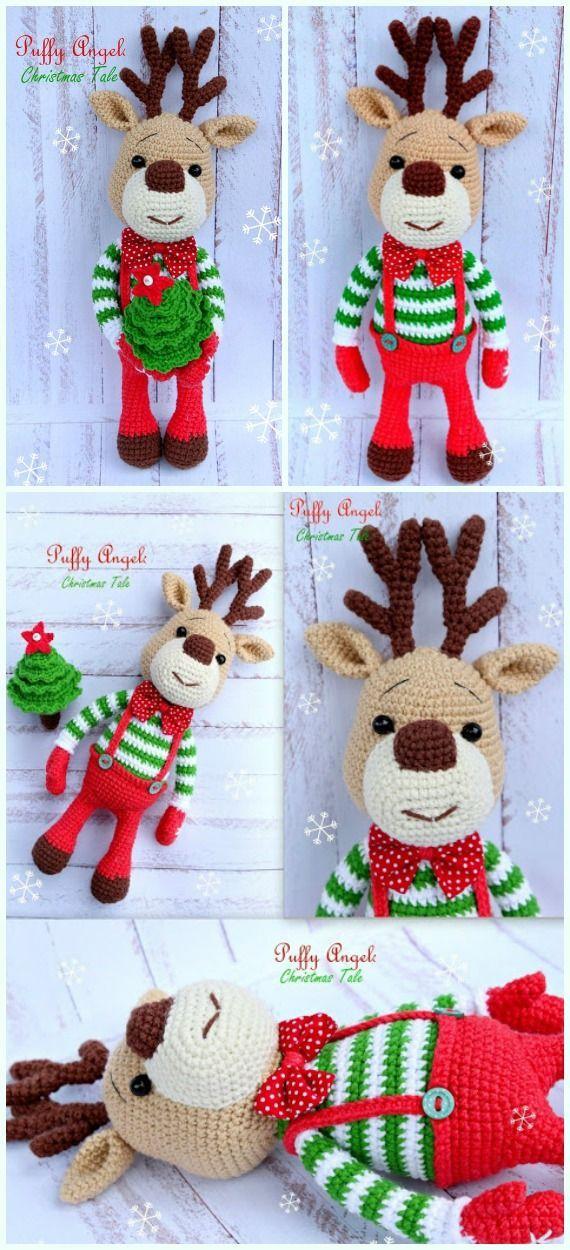 Deco Noel Crochet.Crochet Patterns Amigurumi Christmas Reindeer Free Crochet