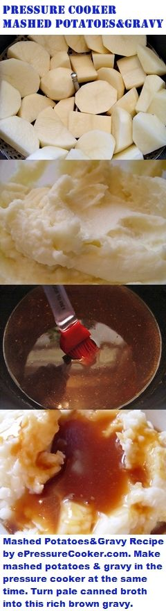 Pressure Cooker Recipes: Pressure Cooker Mashed Potatoes and Gravy Recipe by…