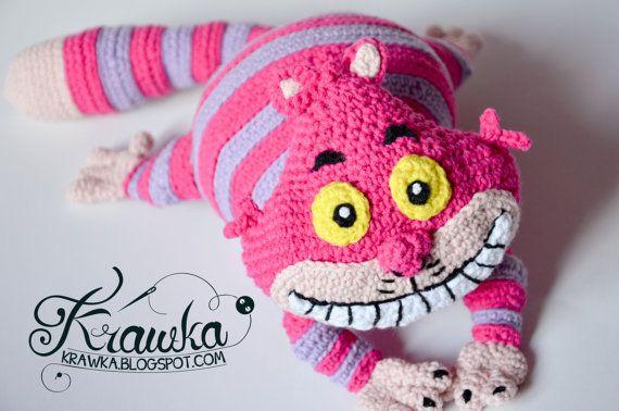 Crochet PATTERN  Pink cat pattern by Krawka Alice in von Krawka