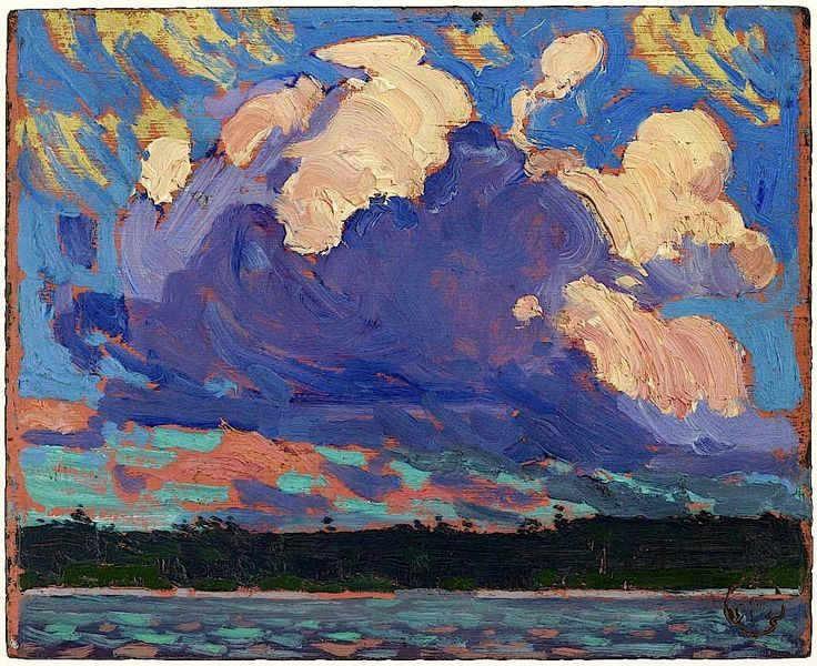 Tom Thomson. Evening Cloud fall winter. 1915