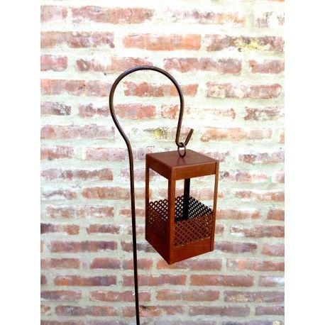 Pinche para colgar faroles u otros objetos ideal para for Faroles en hierro forjado para jardin