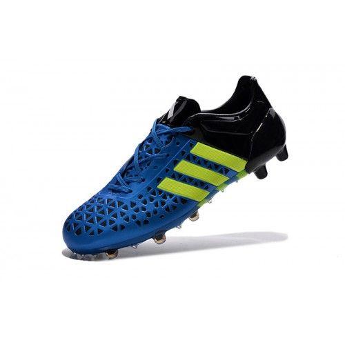 ... Barato Adidas ACE 15.1 TPU Azul Negro Botas De Futbol 7d08c0fe9022f