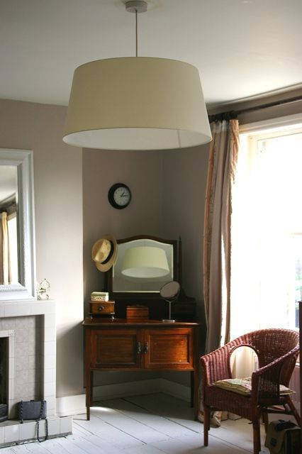 Modern Country Style: Colour Study: Farrow and Ball Elephant's Breath Click through for details.