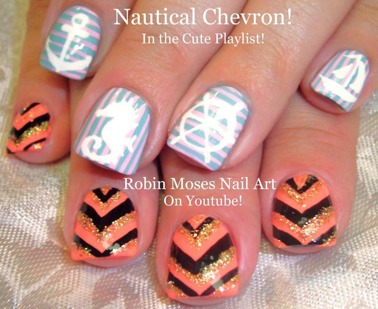 Mejores 430 imgenes de cute nail art pictures with tutorials en diy nautical sparkle chevron nailart summer mani trendy howto solutioingenieria Gallery