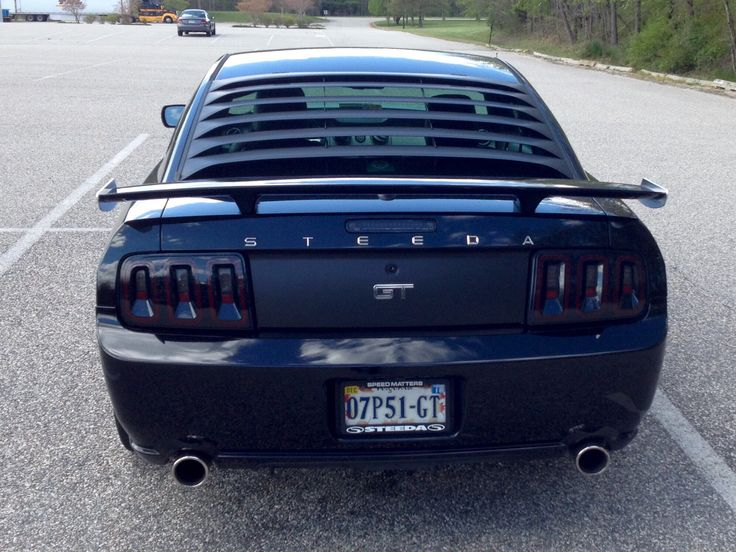 2007 Mustang >> Black 2007 Ford Steeda Mustang GT with Silver Horse Racing rear quarter window louvers, MRT rear ...