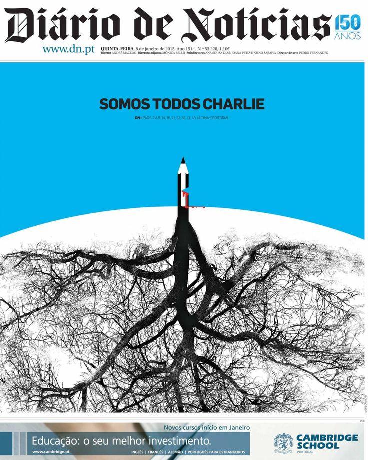 As capas de homenagem ao Charlie Hebdo - PÚBLICO