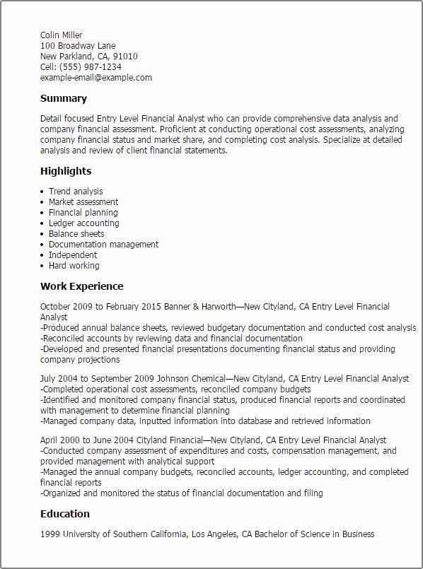 Entry Level Data Analyst Resume Fresh Entry Level Financial Analyst Resume Template Best Business Analyst Resume Financial Analyst Resume Summary Examples