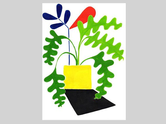 Modern Floral Art Plants and Flowers Abstract Flowers