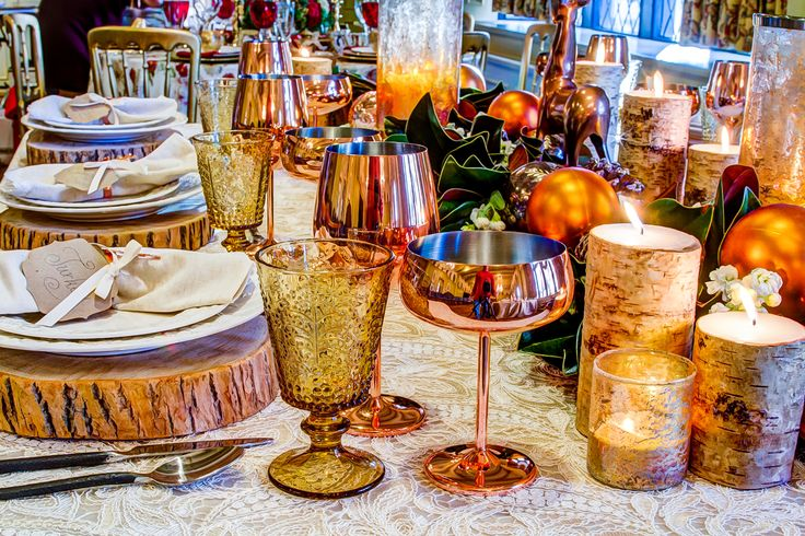 Coloured and copper glassware is all the rage this season. Make it work for you!!