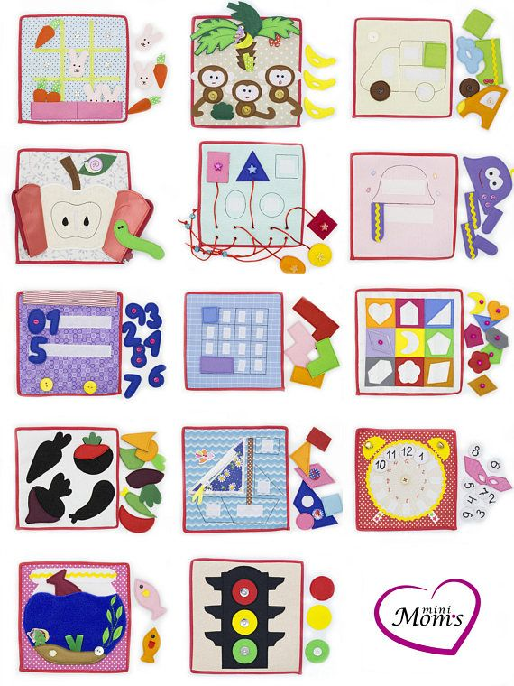 Quiet Busy Card For Toddler Felt Board For Baby Sensory Activity Motor Skills Learning Materials For Kids Infant Sensory Activities Baby Sensory Tablets For Toddlers