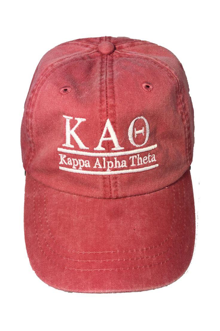 Kappa Alpha Theta Sorority Hat- Nautical Red - Brothers and Sisters' Greek Store