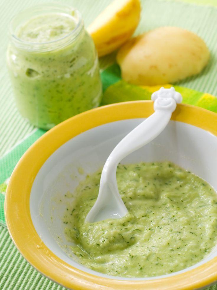 Brokolicový príkrm pre dojčatá s pohánkou a cuketou