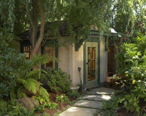 potting shedGarden Sheds, Eclectic Design, Backyards Sheds, Storage Sheds, Gardens Design Ideas, Gardens House, Pots Sheds, San Francisco, Gardens Sheds