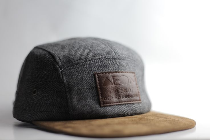 The gentleman's snapback from AEON Attire. Herringbone fabric, brown suede brim, leather brand label, and at the back lies a gold accented adjustable buckle. On sale for $29.99 for a limited time.  #fitted #snapback #hat #5panel #cap #baseball