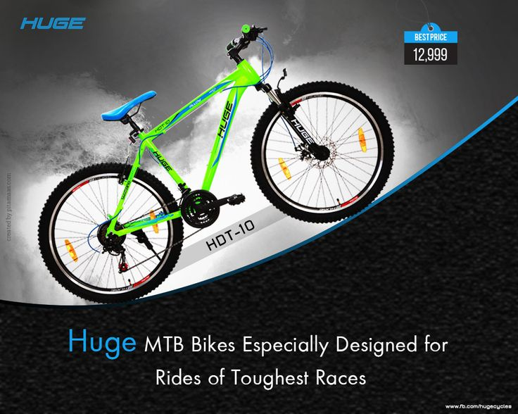HDT10 #MTB Cuts your #adventurers & #rocky #paths with #powerful #breaks & #sturdy #gears! #RideWithHuge For Product Inquiry call at : 9041021821