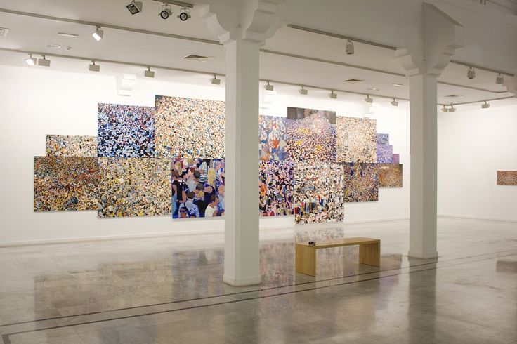 Spanish painter Moneiba Lemes' third and largest instalment of her touring museum exhibition was opening to crowds at the contemporary art centre La Regenta in Gran Canaria. She takes us on a photo tour.