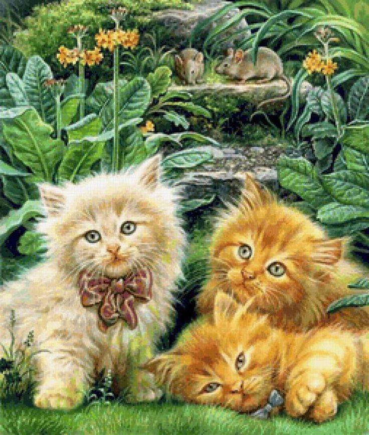 Детские открытки с кошками, картинки
