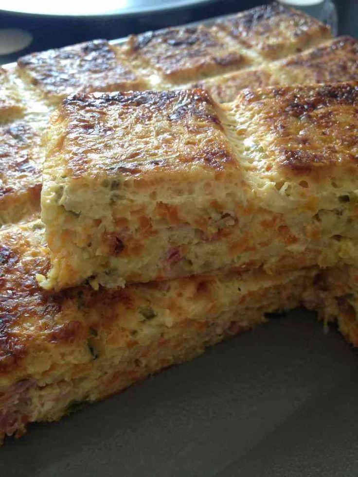 Quiche sans pâte carottes, courgettes et bacon - Rachel et sa cuisine légère et gourmande