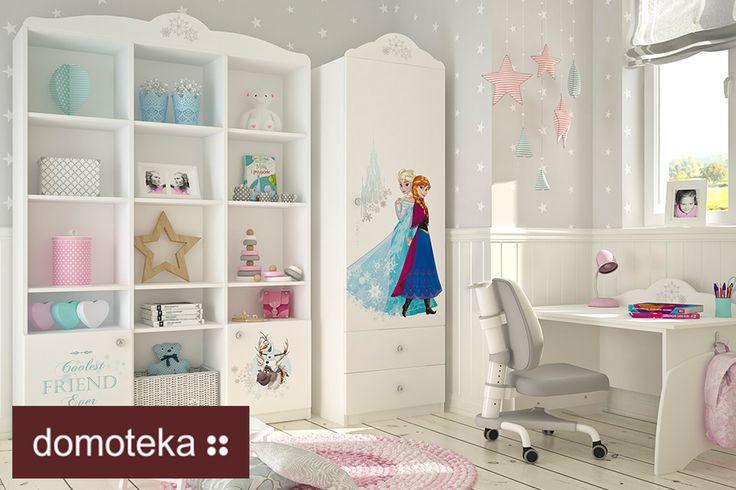 Najnowsza kolekcja na licencji Disney'a – mroźne wzory bohaterów Krainy Lodu sprawią, że Twoja mała Elsa pokocha jej pokoik jeszcze bardziej. Zaaranżuj pokój Twojej księżniczki z jej ulubionymi postaciami. Meblik.
