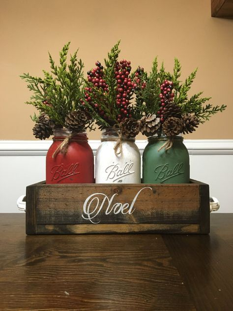 Mason Jar Chirstmas Centerpiece Mason Jar Christmas By DandEcustom Part 61