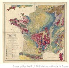 Ministère des Travaux publics. Carte géologique de la France 1/1 000 000 : exécutée en utilisant les documents publiés par le Service de la carte géologique détaillée de la France par un comité composé de [36 scientifiques]