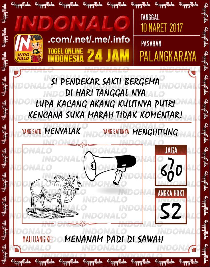 Kode Alam 2D Togel Wap Online Indonalo Palangkaraya 10 Maret 2017