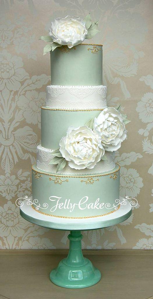 Alle Größen   Peonies and Lace Wedding Cake   Flickr - Fotosharing!