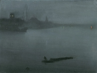 Whistler, Nocturne in Blue and Silver, 1872