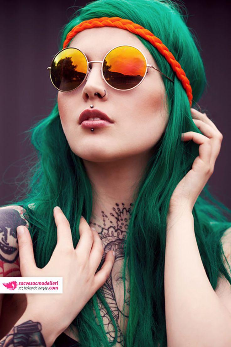 yeşil saç rengi