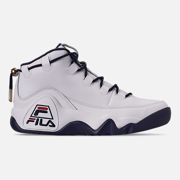 Right view of Men's Fila 95 Primo Basketball Shoes in White ...