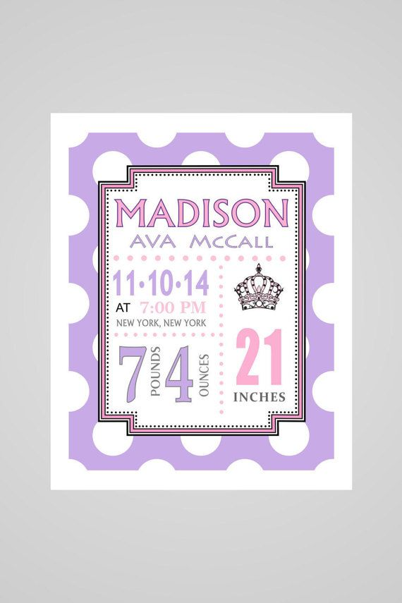 21 best grandma gift images on pinterest family tree chart baby giftbirth announcement wall art polka dot background princess birth announcement personalized baby giftcustom birth stats baby girl negle Images