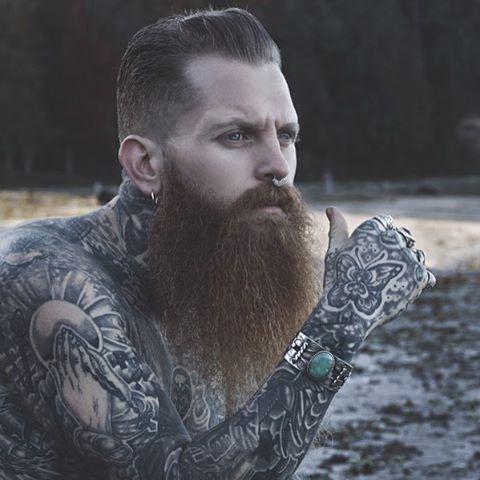 Jake hurn long full thick red beard mustache beards for Red beard tattoo