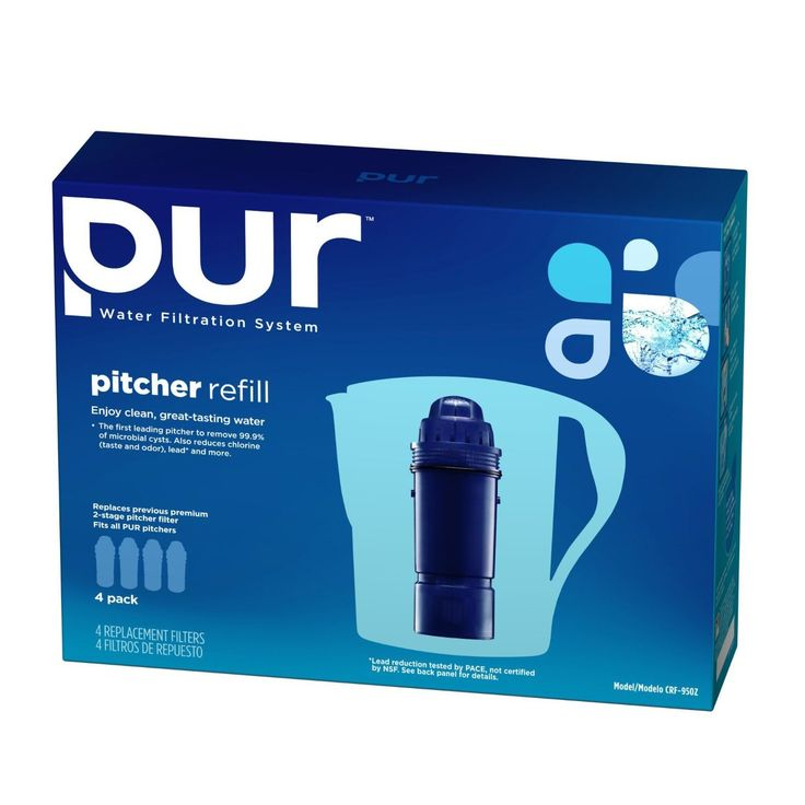 PUR 2-Stage Water Pitcher Replacement Filter.
