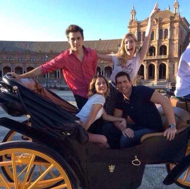 Hola!!! Hace algunos dias grabando en Sevilla con Jorge, Clari y Diego!