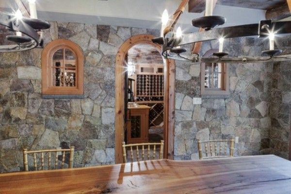 moderne kontraste steinwände dekoideen Wandgestaltung - Tapeten - esszimmer design schwarz weis kontraste