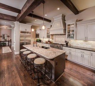 Cream Kitchen Cabinets House Trim And Dark House On Pinterest