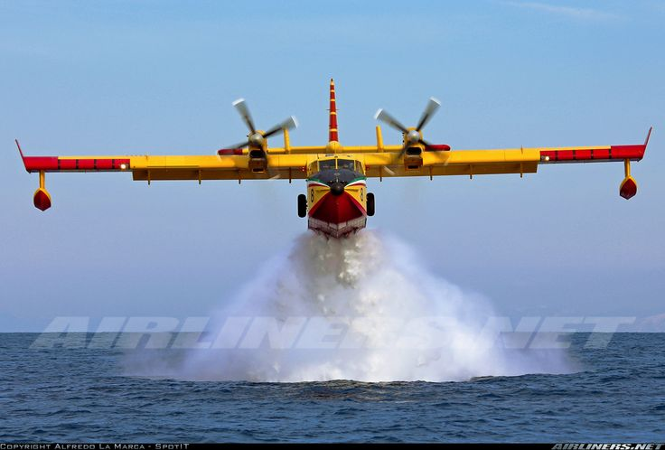 CL-415 water bomber. These are commonly seen across Canada and Quebec as there is too much forest and not enough ground forces to control a forest fire there...
