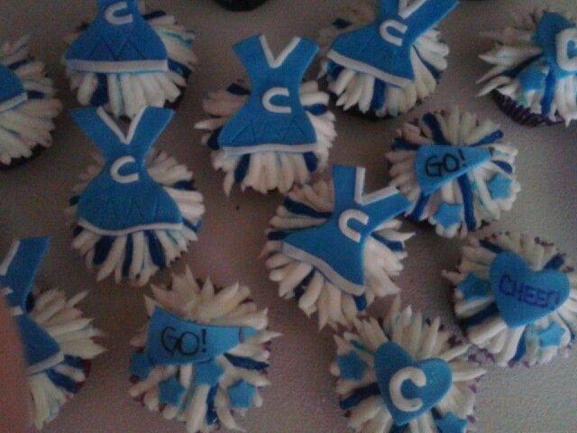 Cheerleader cupcakes!!!