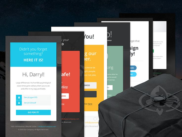 Best Mail Template Images On   Email Templates Email