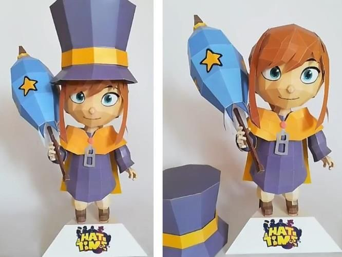 Papermau A Hat In Time Hat Kid Paper Model By Papershaper A Hat In Time Hat In Time Hat Kid