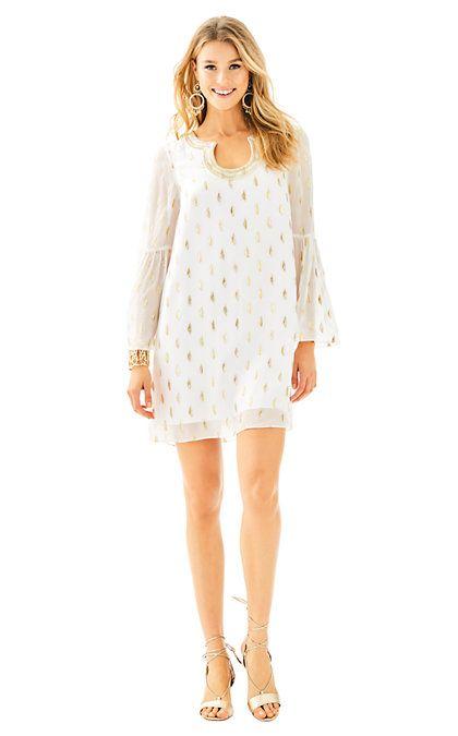 c902ff0d25790f Amory Silk Dress | Lilly Pulitzer | Dresses, Silk dress, Long sleeve tunic  dress