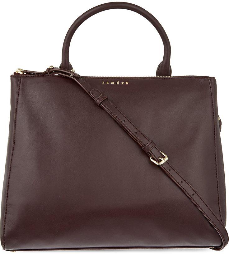 SANDRO - Alanisse medium leather shopper   Selfridges.com