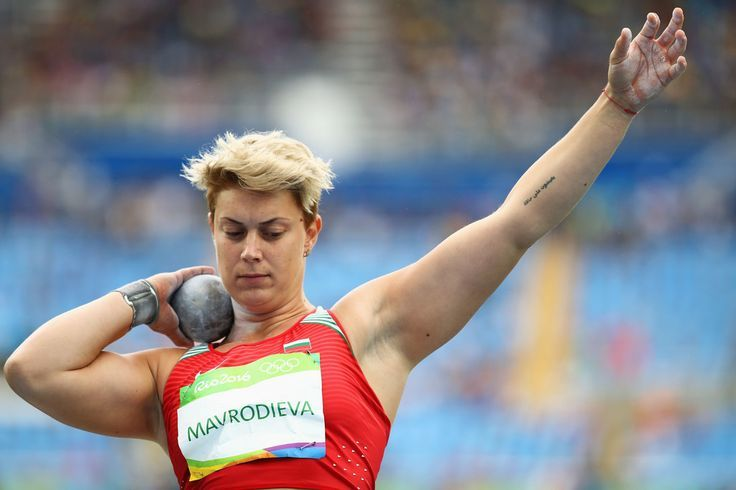 Radoslava Mavrodieva of Bulgaria competes in the Women's Shot Put qualification on Day 7 of the Rio 2016 Olympic Games at the Olympic Stadium on August 12, 2016 in Rio de Janeiro, Brazil.