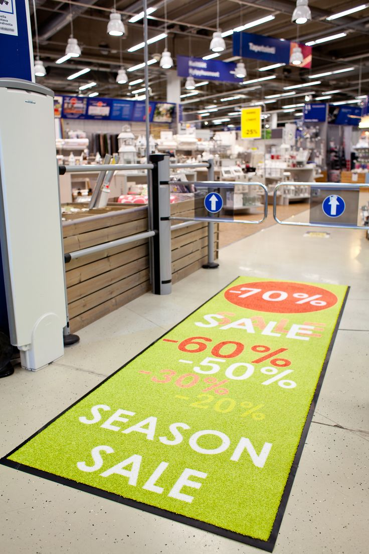 Lindström Group's Promo Design mat is ideal for large and very demanding premises. Up to 20 metres long, the Promo Design mat helps create visibility and an imposing effect, and can be made with any pattern.  #lindstromgroup #matservices #mat #designmat #interiordesign #carpet #companyimage #brandimage #matrentalservice #rental #customerspecificdesignmat #image #promodesign #event #campaign