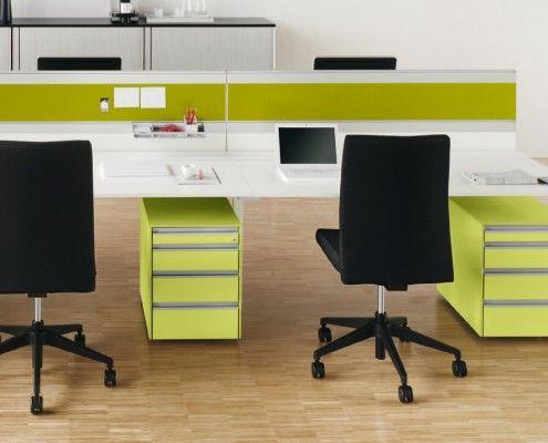 s421wb arbeitstisch mit mobilen alleskönnern in apfelgrün #workplace # coloryourlife