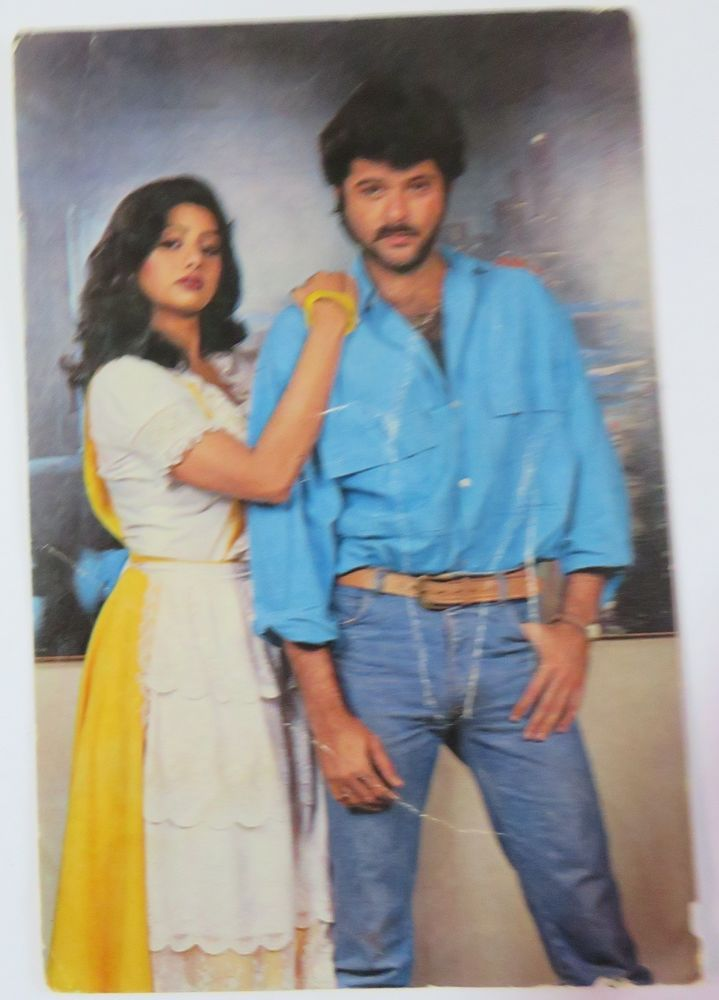 SRIDEVI & ANIL KAPOOR INDIAN MOVIE ACTOR BOLLYWOOD Picture postcard 15 X10 CM Q1